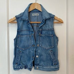 Madewell The Pocket Jean Vest Size XS